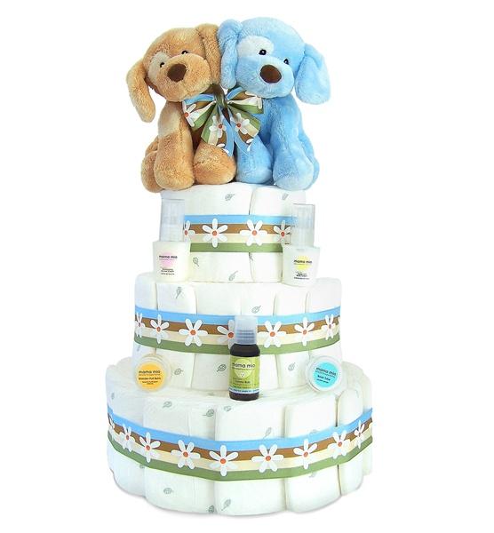 Unique baby shower diaper cakes