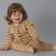 Striped Baby Girl Romper - Long Sleeve - 100% Organic Cotton