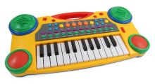 "16"" Electronic Music Piano Keyboard for Kids, Yellow"