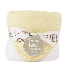 Bouquet Hooded Towel-4 Pack Burp Cloth (Color: Yellow Gingham Seersucker)