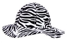 Toddler's Beach Hat (Color: Black and White Zebra 2T)