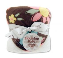 Bouquet Hooded Towel-4 Pack Burp Cloth (Color: Blossoms)