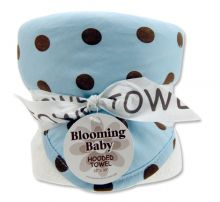 Bouquet Hooded Towel-4 Pack Burp Cloth (Color: Max Dot)