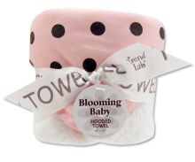 Bouquet Hooded Towel-4 Pack Burp Cloth (Color: Maya Dot)