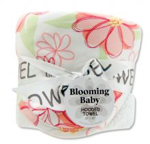 Bouquet Hooded Towel-4 Pack Burp Cloth (Color: Hula Baby)