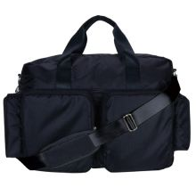 Diaper Bag - Delux Duffle (Color: Black And Avocado Green Deluxe Duffle)