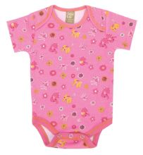 Baby Bodysuit | Baby Outfits (Color: Sherbet Elephant Scatter Print)