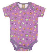 Baby Bodysuit | Baby Outfits (Color: Jelly Bean Owl Scatter Print)