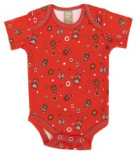 Baby Bodysuit | Baby Outfits (Color: Chocolate Kiss Bear Scatter Print)