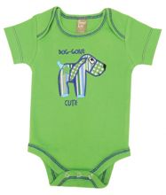 Baby Bodysuit | Baby Outfits (Color: Apple Berry Puppy)