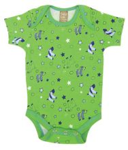 Baby Bodysuit | Baby Outfits (Color: Apple Berry Puppy Scatter Print)
